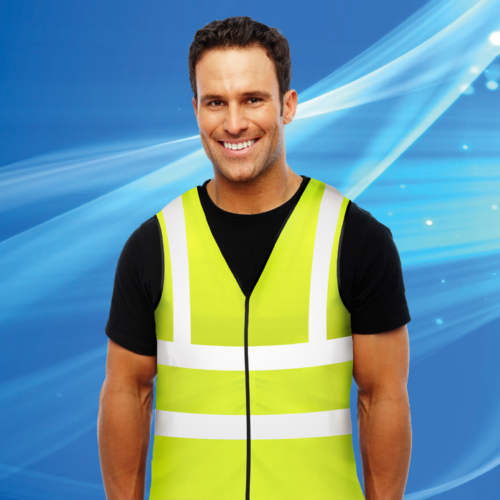 Aqua Coolkeeper Cooling Vest Neon Yellow and Reflective Strips
